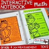 Fourth Grade Math Interactive Notebook: Measurement (TEKS)