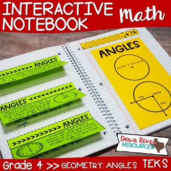 Fourth Grade Math Interactive Notebook: Measuring Angles (TEKS)