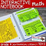 Fourth Grade Math Interactive Notebook: Personal Financial Literacy (TEKS)
