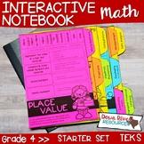 Fourth Grade Math Interactive Notebook: Starter Set + Divi