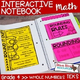 Fourth Grade Math Interactive Notebook: Whole Numbers Place Value (TEKS)