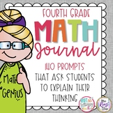 Distance Learning Word Problem Math Journal for Fourth Grade *EDITABLE*
