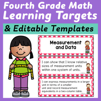 Fourth Grade Math Learning Targets/I Can Statements
