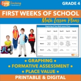 Fourth Grade Math Lesson Plans and Activities for the First 3 Weeks of School