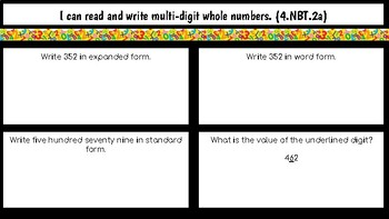 Fourth Grade Math Lessons for the whole school year!