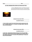 Fourth Grade Math - Multiplying Fractions and Whole Numbers Exit Ticket