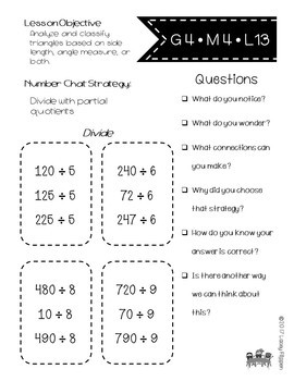 Fourth Grade Math Number Chats Aligned to Engage NY Module 4