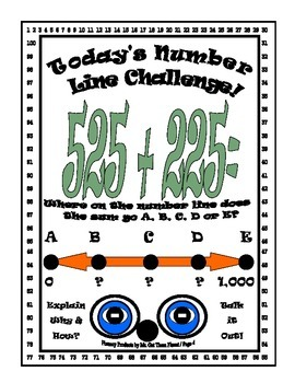 Math Number Sense Challenge Activity Gifted Fourth Grade