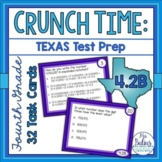 Fourth Grade Math STAAR Task Cards Place Value Test Prep T
