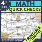 Math Exit Tickets for 4th Grade | Printable and Digital Pr