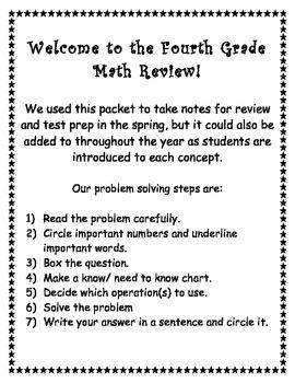 Fourth Grade Math Review