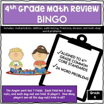Fourth Grade Math Review Bingo By Katherine Dellinger Tpt
