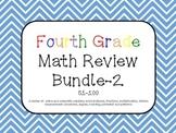 Fourth Grade Math Review Bundle 51-100 Common Core aligned