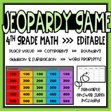 Fourth Grade Math Review Game