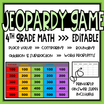 4th Grade Math Review Game Teaching Resources | Teachers Pay Teachers