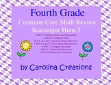 Fourth Grade Math Review Scavenger Hunt 3