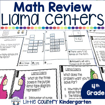 Fourth Grade Math Review Task Cards