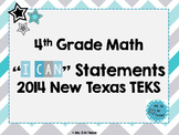 "Fourth Grade Math *Revised* TEKS ""I Can"" Statements- Chevron"