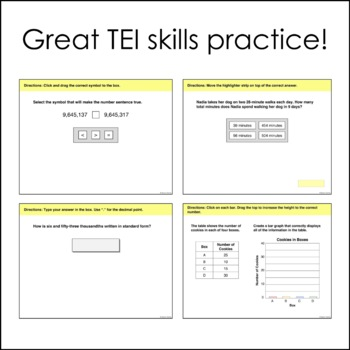 Fourth Grade Math SOL TEI Questions (Digital Review)