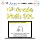 Fourth Grade Math SOL Review TEI Questions (Digital)