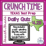 Digital Fourth Grade Math Google Forms Texas Test Prep Dai