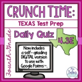 Fourth Grade Math Test Prep: STAAR Assessment Daily Quiz TEKS 4.3E