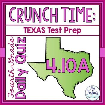 Fourth Grade Math Test Prep: STAAR Assessment Daily Quiz TEKS 4.10A