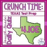 Fourth Grade Texas Math Test Prep Assessment Daily Quiz TE