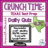 Fourth Grade Math STAAR Test Prep Assessment Daily Quiz TEKS 4.7C