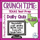 Fourth Grade Texas Math Test Prep Assessment Daily Quiz TEKS 4.8A