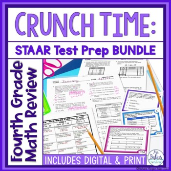 Fourth Grade Texas Math Test Prep: MEGA BUNDLE TEKS Aligned