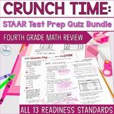 Digital 4th Grade Math Texas TestPrep Assessment TEKS Readiness Standards Bundle