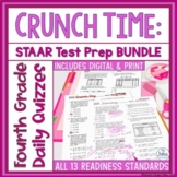 Fourth Grade Math STAAR Test Prep Assessment TEKS Readines