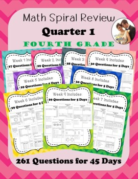 Fourth Grade Math Spiral Review, Quarter 1