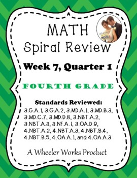 Fourth Grade Math Spiral Review, Quarter 1, Week 7