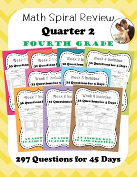 Fourth Grade Math Spiral Review, Quarter 2