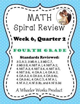 Fourth Grade Math Spiral Review, Quarter 2, Week 6