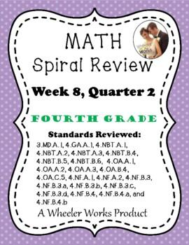 Fourth Grade Math Spiral Review, Quarter 2, Week 8