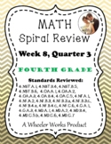 Fourth Grade Math Spiral Review, Quarter 3, Week 8