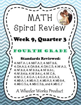 Fourth Grade Math Spiral Review, Quarter 3, Week 9