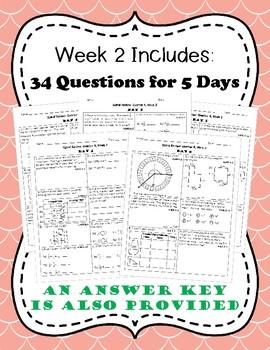 Fourth Grade Math Spiral Review, Quarter 4