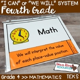 Fourth Grade Math TEKS I Can Statements