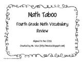 Fourth Grade Math Taboo
