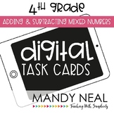 Fourth Grade Digital Math Task Cards ~ Adding and Subtract