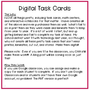 Fourth Grade Math Task Cards ~ Converting Fractions to Decimals