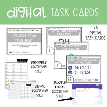 Fourth Grade Math Task Cards ~ Factors and Multiples