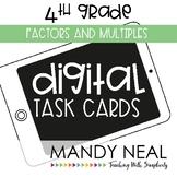 Fourth Grade Digital Math Task Cards ~ Factors and Multipl