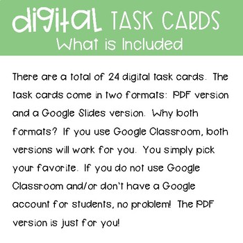 Fourth Grade Math Task Cards ~ Fraction with Denominators of 10 and 100