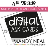 Fourth Grade Digital Math Task Cards ~ Multiples of 10 and