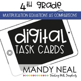 Fourth Grade Math Task Cards ~ Multiplication Equations as